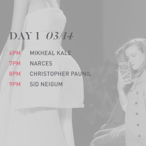 The Daily Dose – Day 1 Toronto Fashion Week FW 16